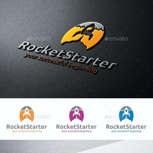 Rocket Starter Logo Launch Startup