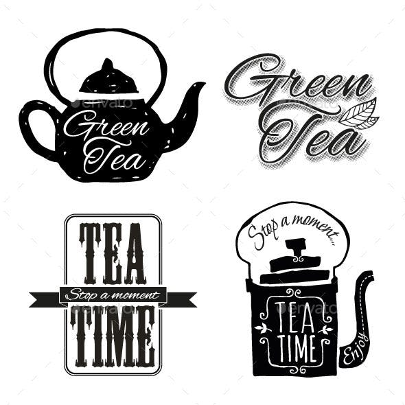 Set of Tea Labels