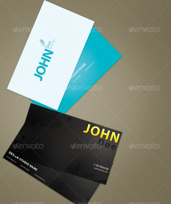 Simple and Grunge Business Cards - Corporate Business Cards