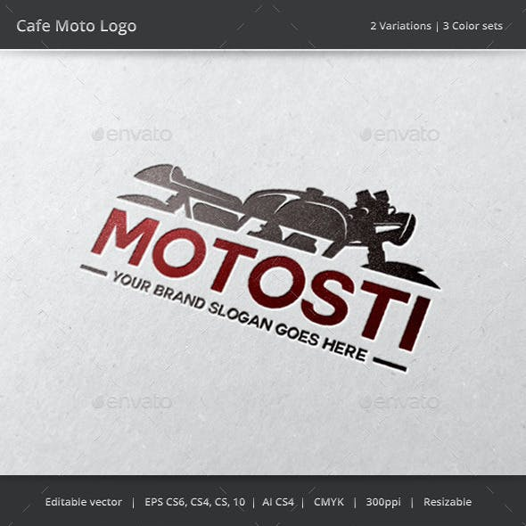 Cafe Motorcycle Logo