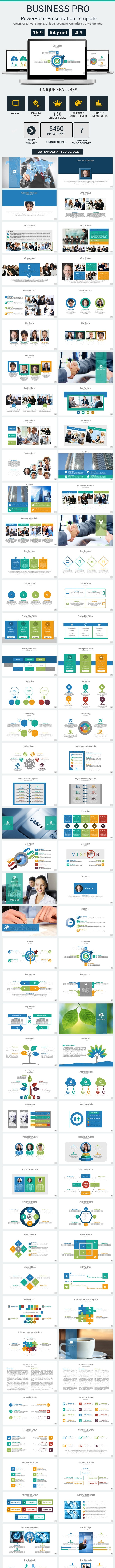 Business Pro PowerPoint Presentation Template - PowerPoint Templates Presentation Templates