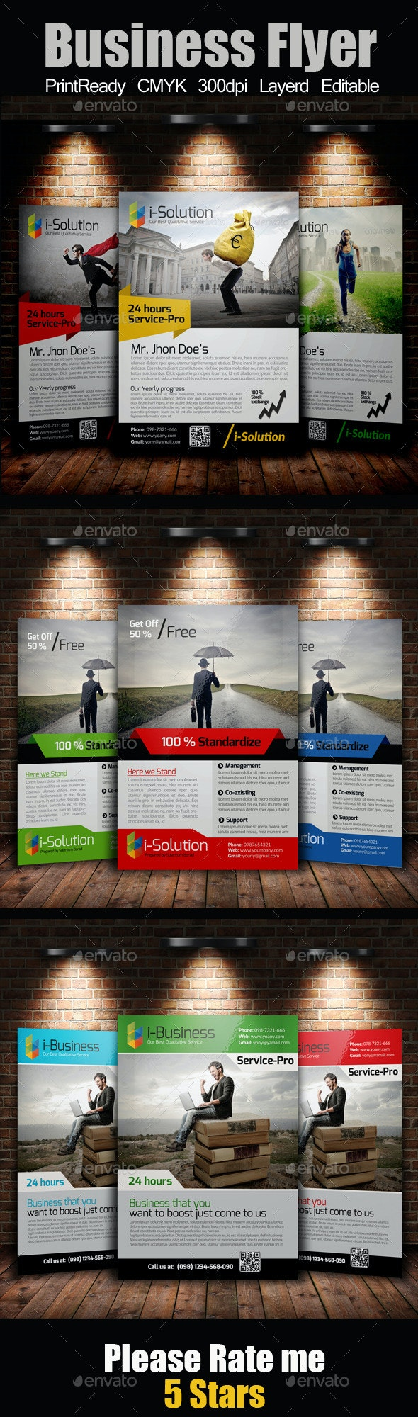 A4 Business Flyer Bundle - Corporate Flyers