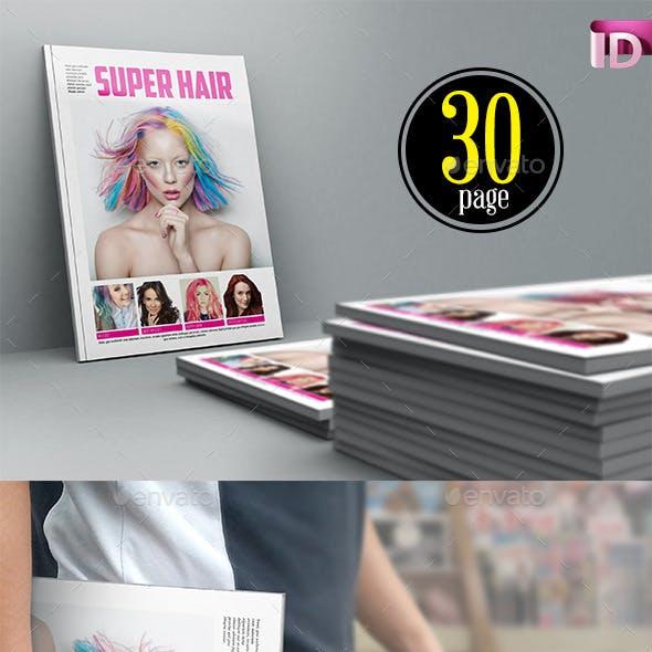 Super Hair Magazine Template