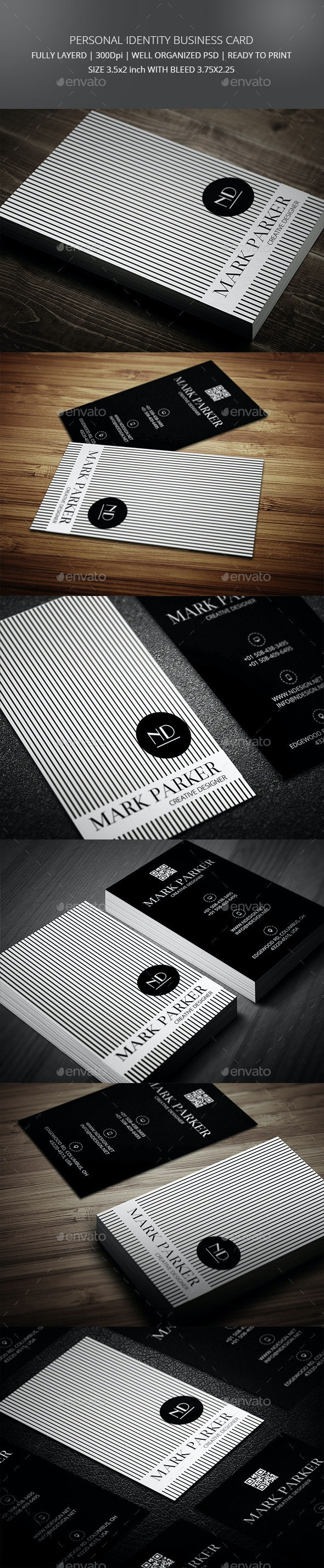 Stylish Professional Business Card - Creative Business Cards