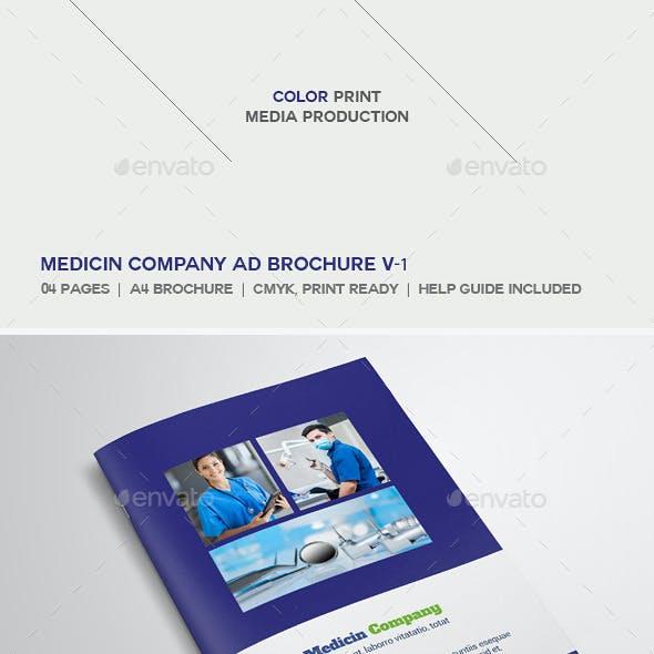 Medicine Company Ad Brochure V-1