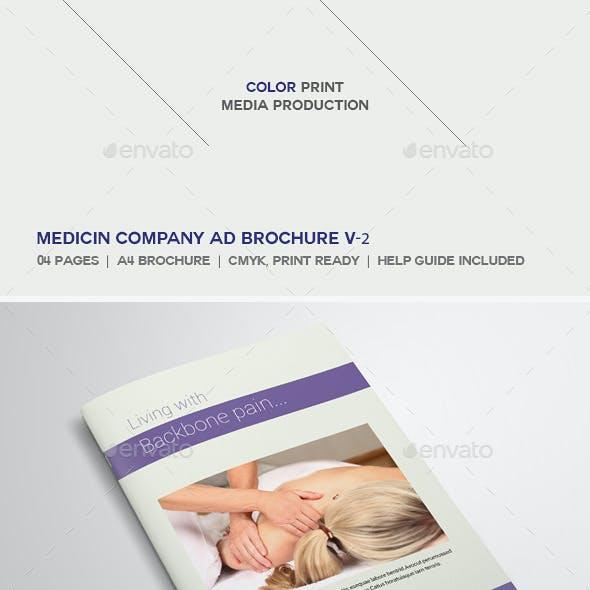 Medicine Company Ad Brochure V-2