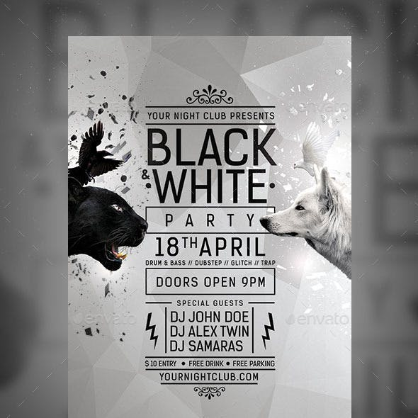 Black & White Party Flyer