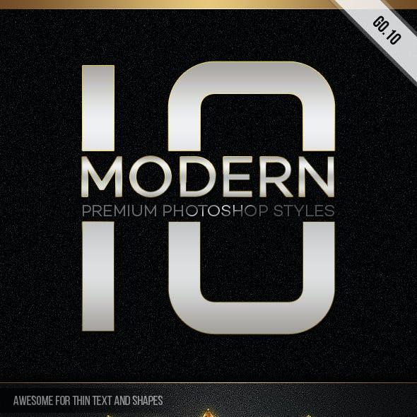10 Modern Styles GO.10