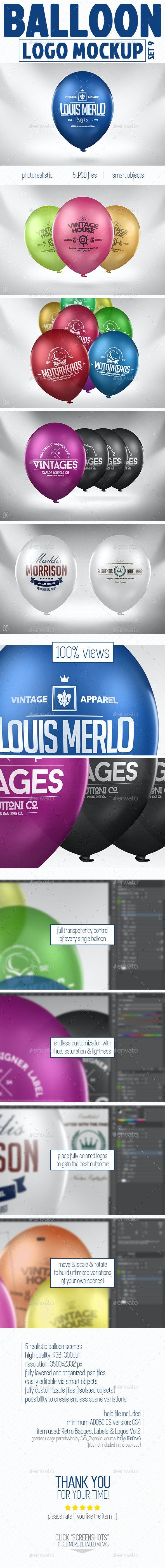Balloon Logo Mock-up - Logo Product Mock-Ups