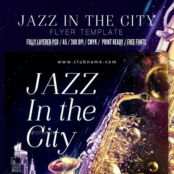 Jazz in The City Flyer Template