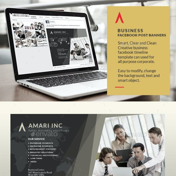 Business Facebook Post Banners