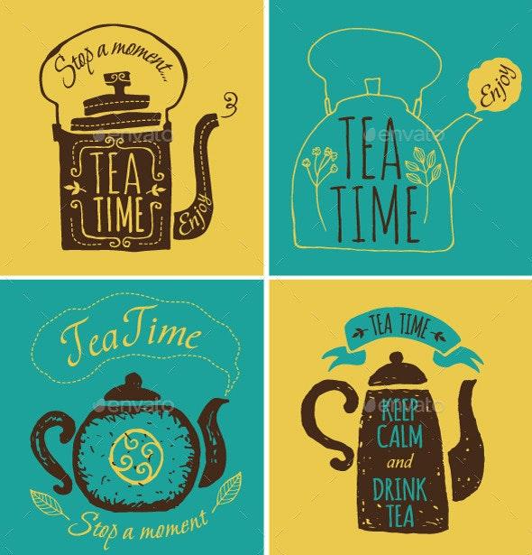 Tea Theme - Food Objects