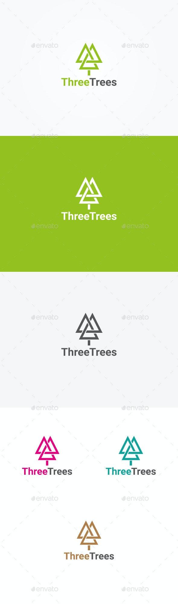 Three Trees Logo - Nature Logo Templates