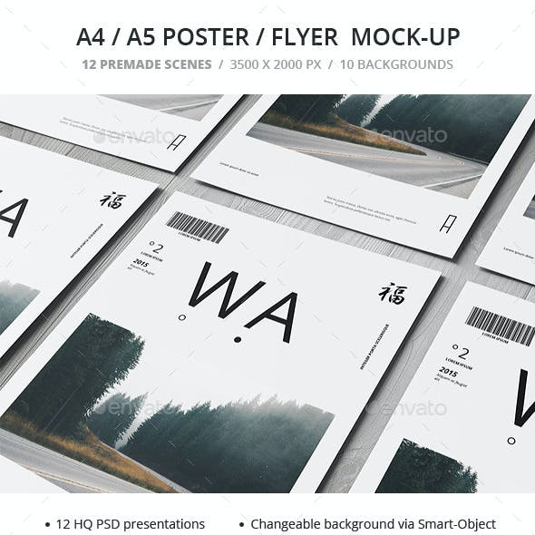 A4 / A5 / Poster / Flyer Mockup