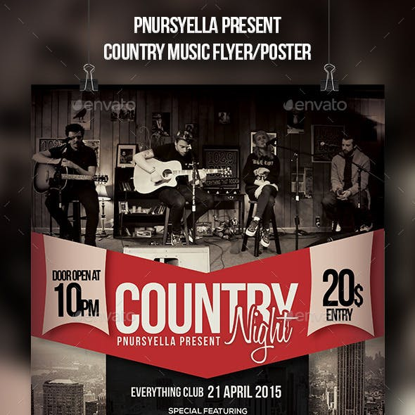 Country Music Event Flyer / Poster