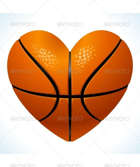 Ball for basketball in the shape of heart - Sports/Activity Conceptual