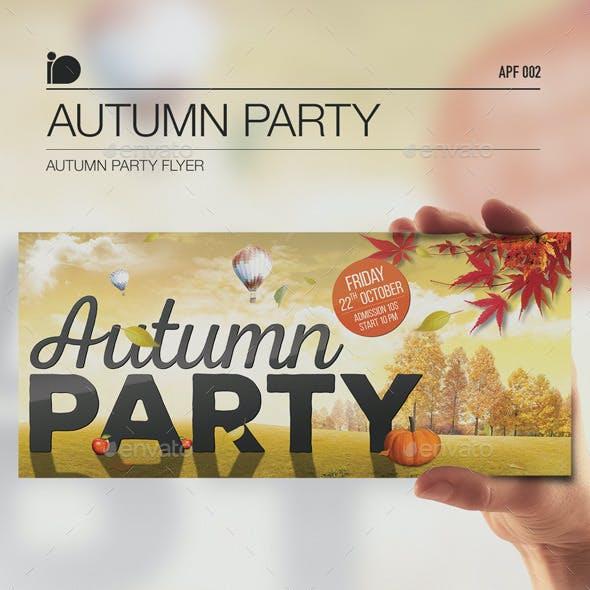 Autumn Party Flyer • Autumn Party