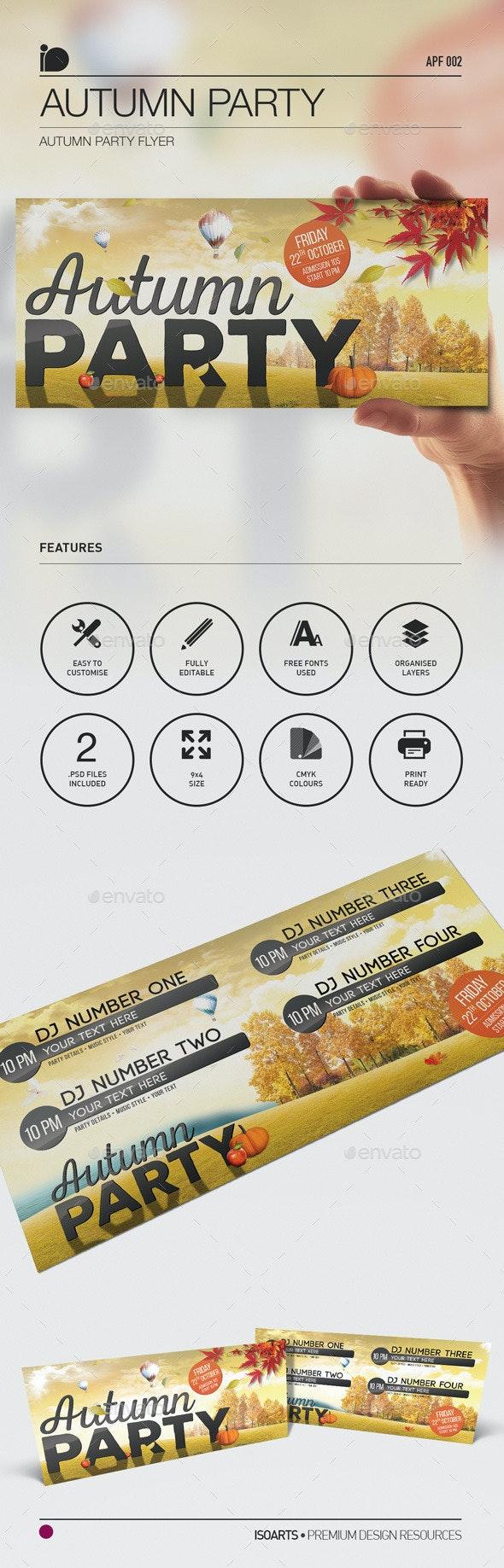 Autumn Party Flyer • Autumn Party - Clubs & Parties Events