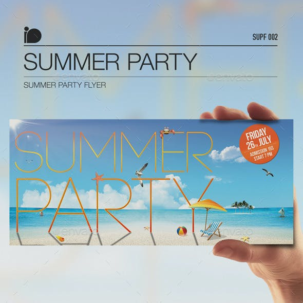 Summer Party Flyer • Summer Party