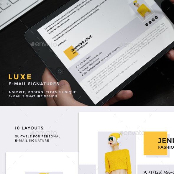 Luxe - E-Mail Signatures v2