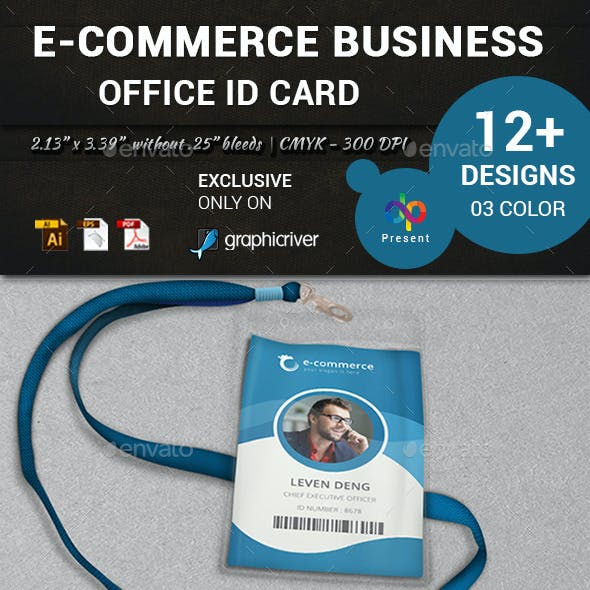 E-Commerce Business Office ID Card