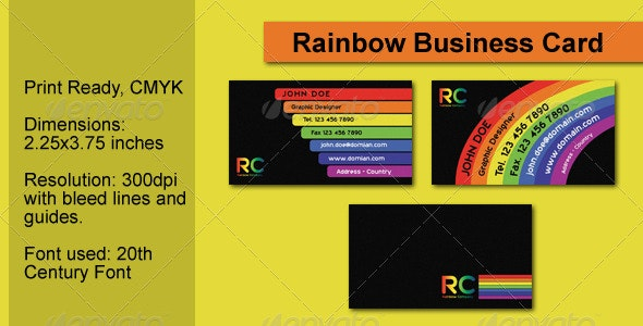 Rainbow Business Card - Creative Business Cards
