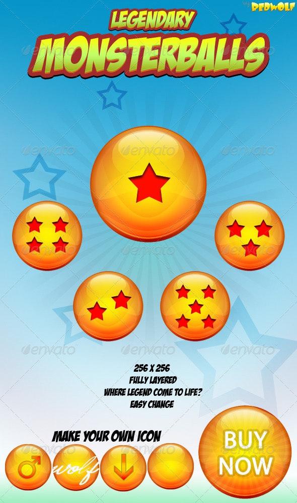 Monsterballs Icons - Web Icons