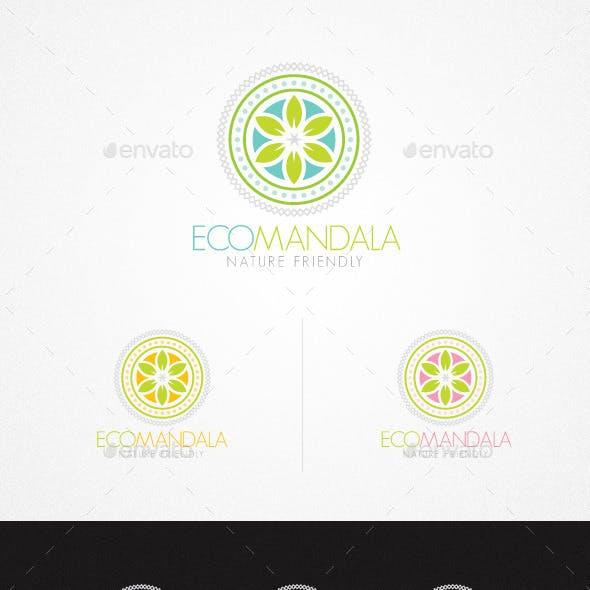 Eco Mandala Holistic Natural Creative Logo