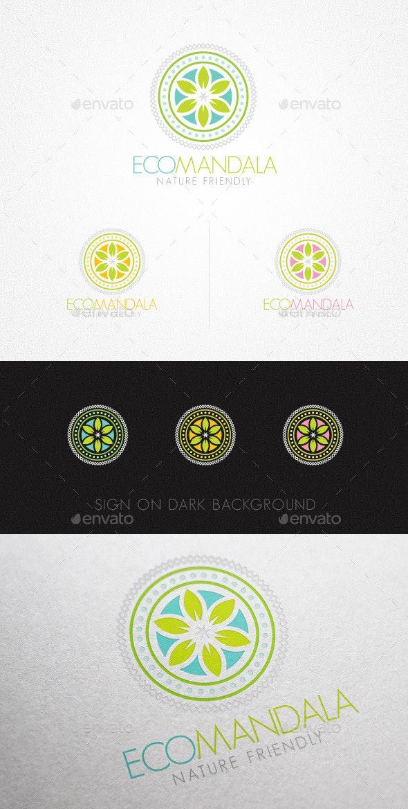 Eco Mandala Holistic Natural Creative Logo - Nature Logo Templates