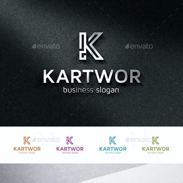 K Logo Monogram Letter