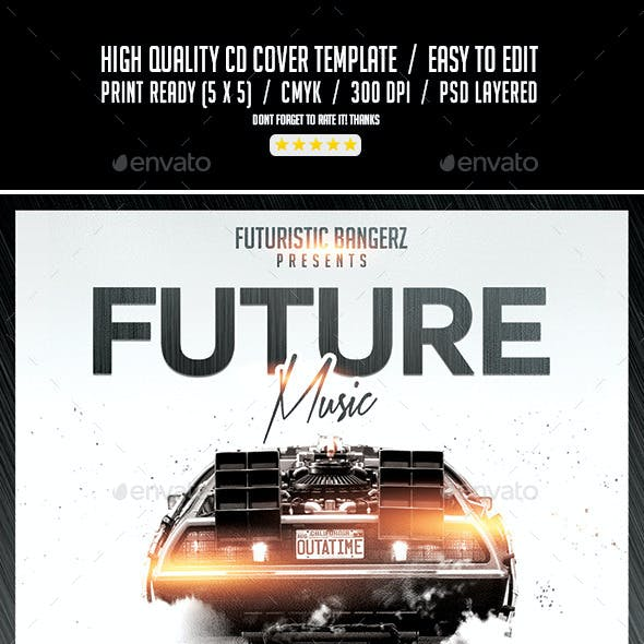 Future Music | Mixtape Album CD Cover Template