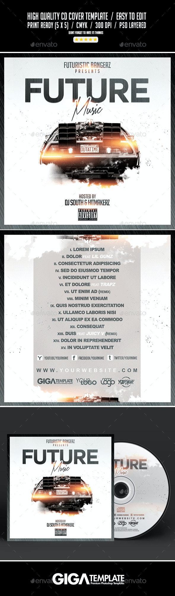 Future Music   Mixtape Album CD Cover Template - CD & DVD Artwork Print Templates