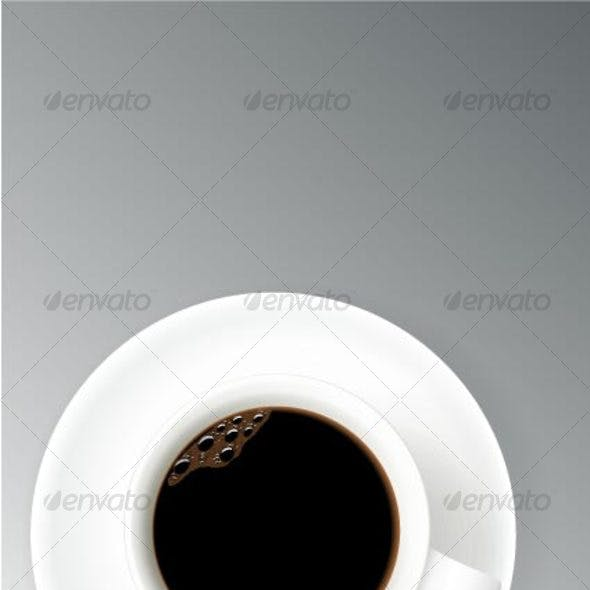 the cup of the coffee