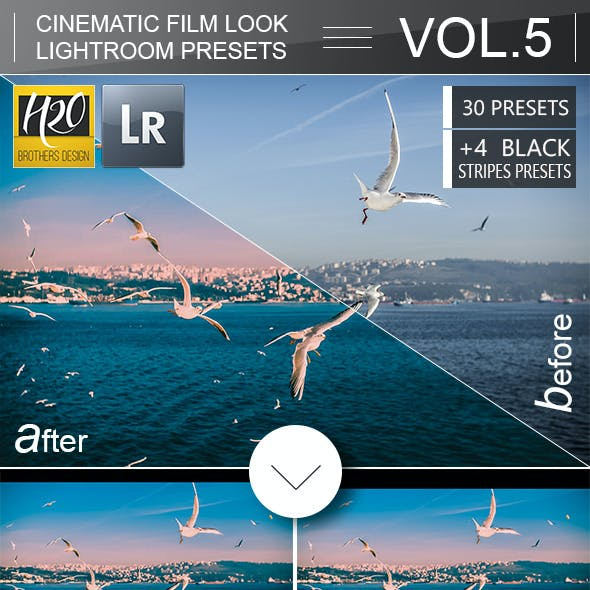 30 Cinematic Film Look Lightroom Presets VOL.5