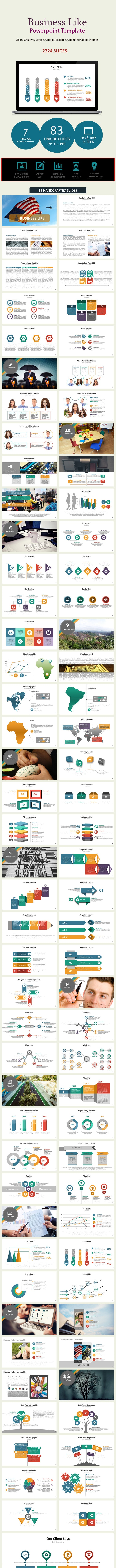 Business Like Presentation Template - PowerPoint Templates Presentation Templates
