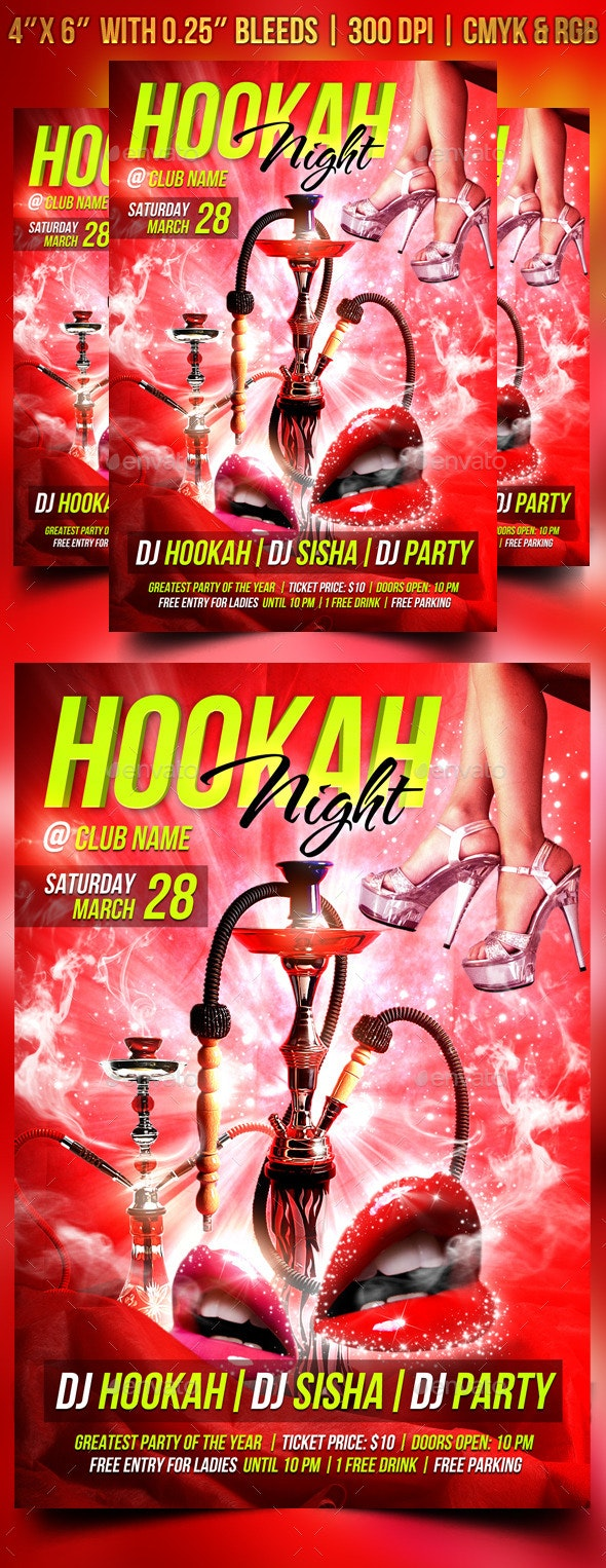 Hookah Night Flyer Template - Clubs & Parties Events