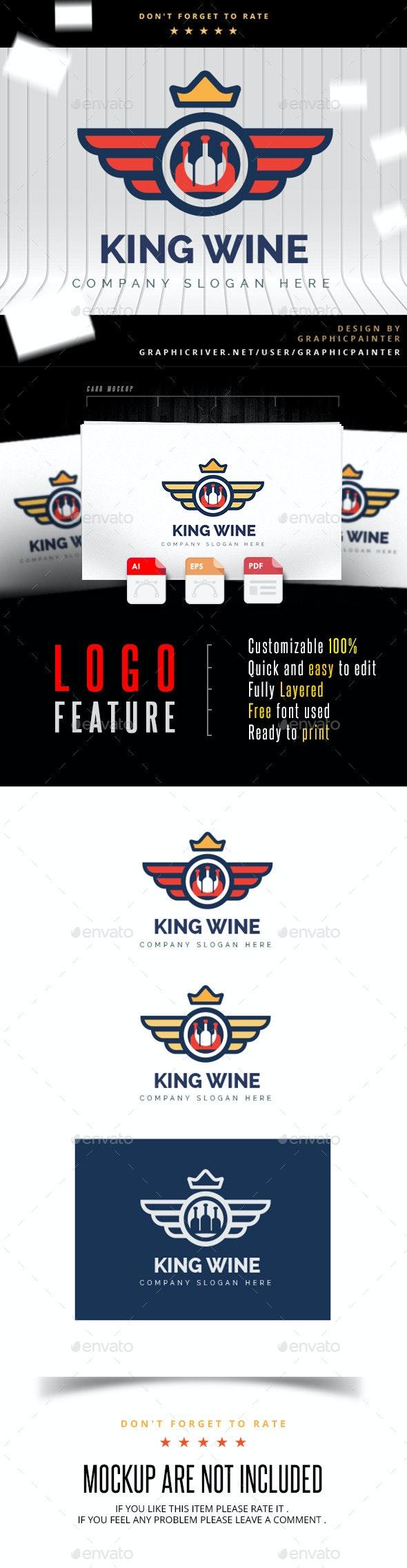 King Wine - Wine Logo