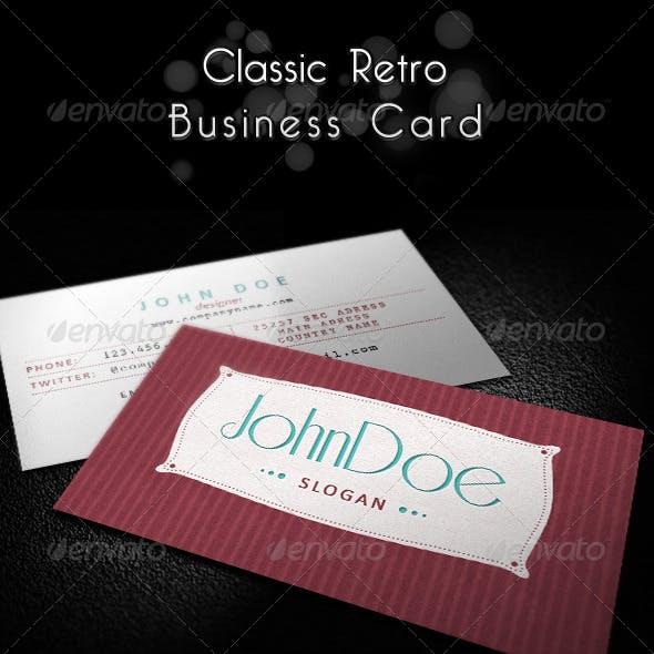 Classic Retro Business Card