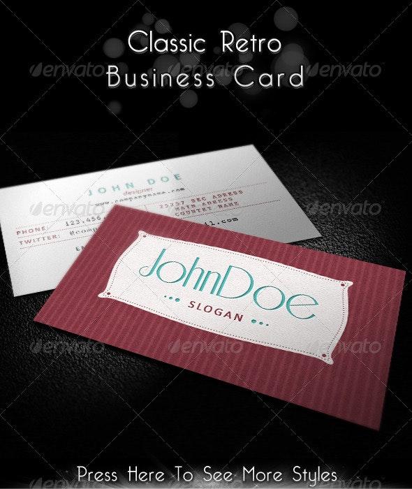 Classic Retro Business Card - Retro/Vintage Business Cards