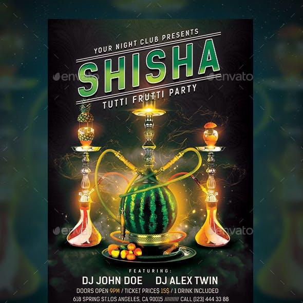 Shisha Tutti Frutti Flyer