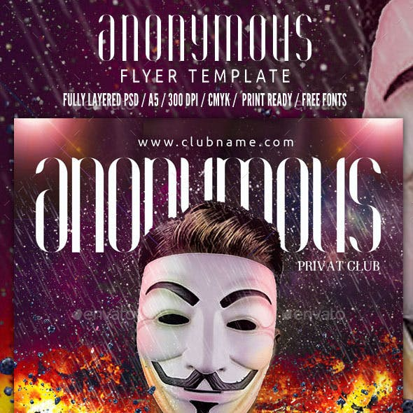 Anonymous Flyer Template