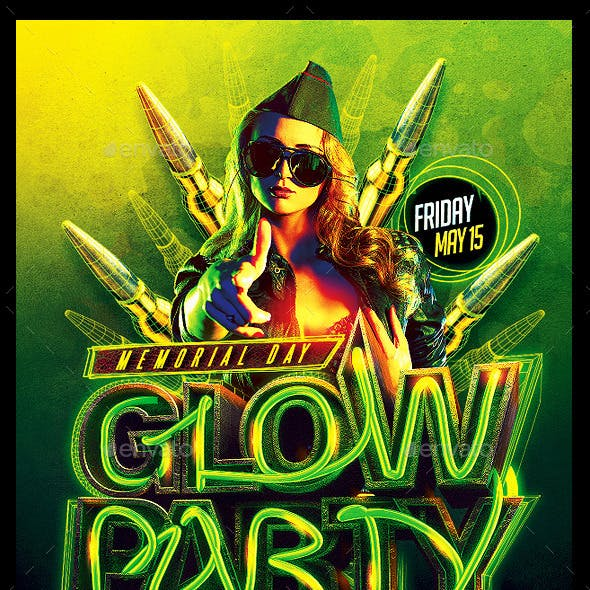 Memorial Day Glow Party