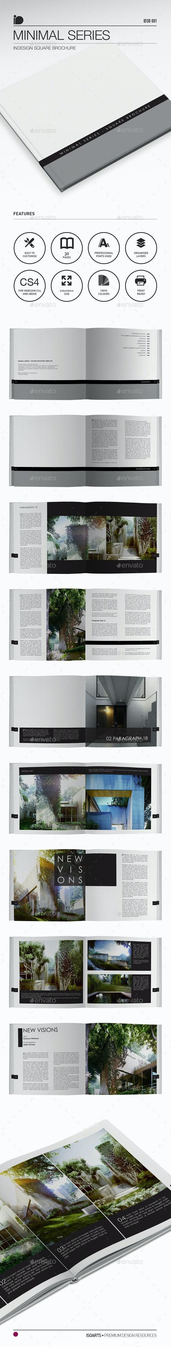 Square Brochure • Minimal Series - Print Templates