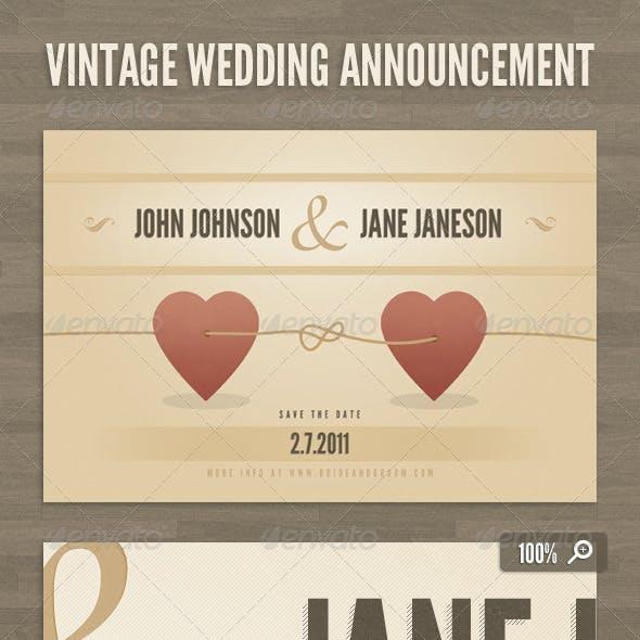 Vintage Wedding Announcement Template