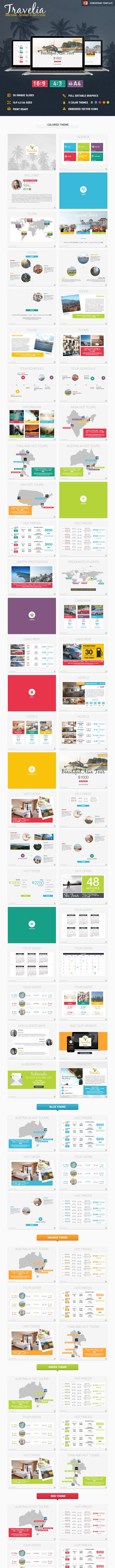 Travelia PowerPoint Presentation Template  - PowerPoint Templates Presentation Templates