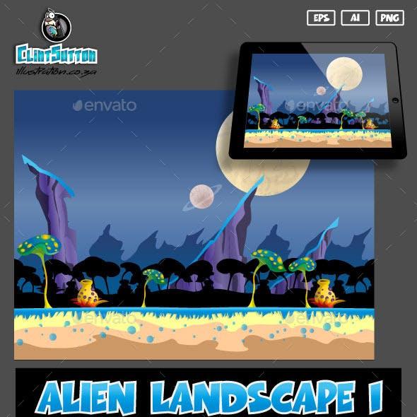 Alien landscape1 game background