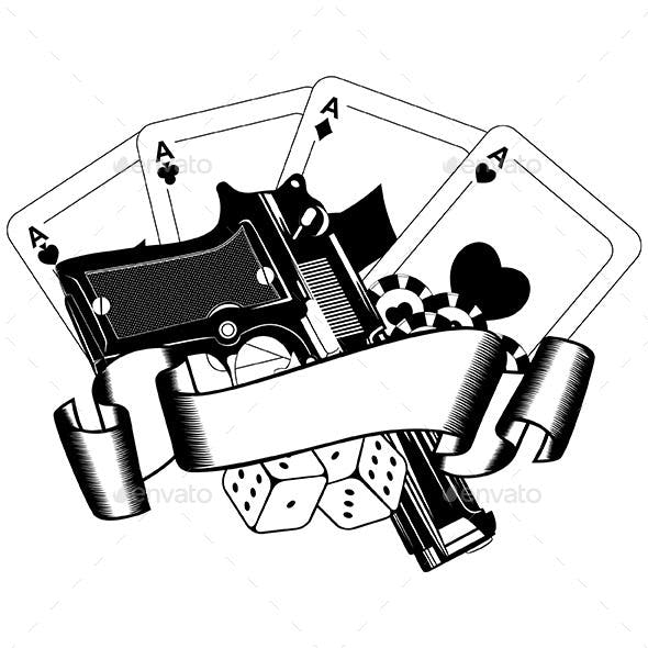 Pistols and Playing Cards