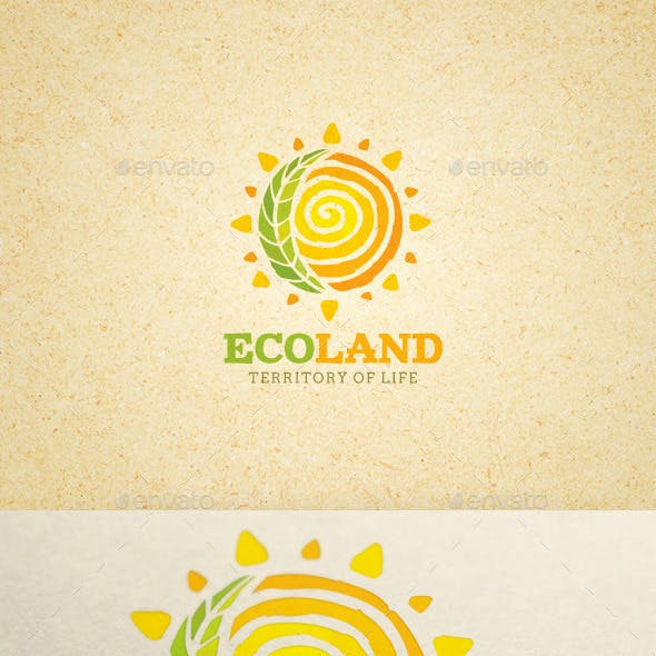Eco Land Organic Farm Creative Logo Concept