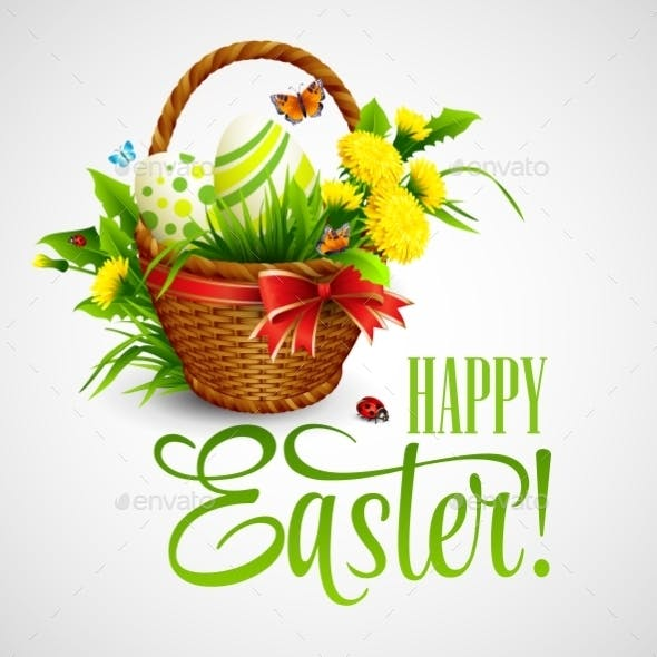 Easter Card with Basket