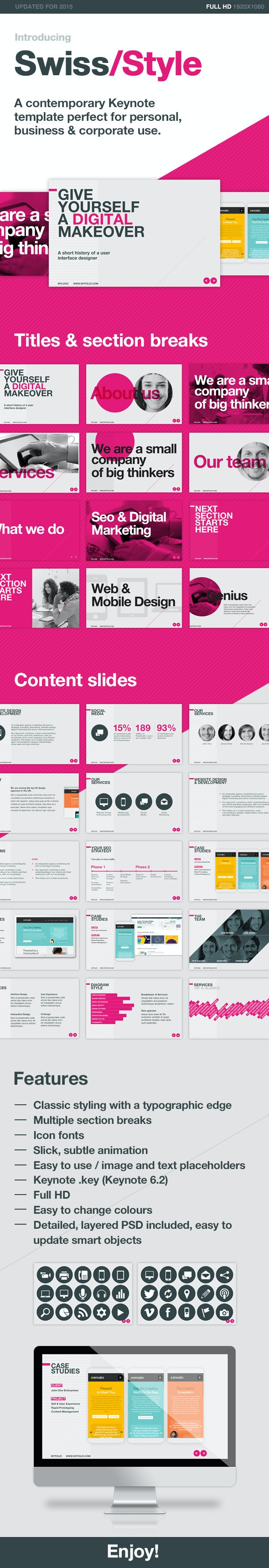 Swiss Style - Creative Keynote Templates